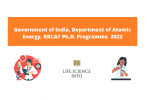 Government of India, Department of Atomic Energy, RRCAT Ph.D. Programme 2022