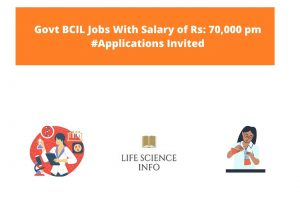 Govt BCIL Jobs With Salary of Rs 70,000 pm #Applications Invited